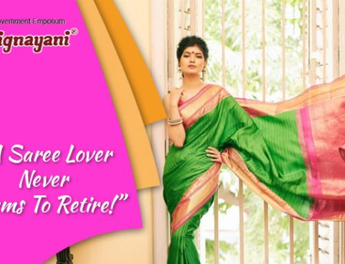 """A Saree Lover Never Seems To Retire!""—"