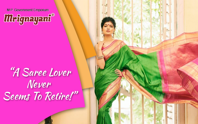 A Saree Lover Never Seems To Retire